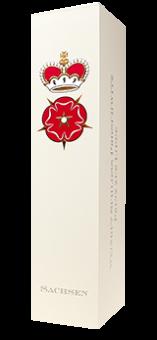 Eleganter Geschenkkarton für 1 Flasche  bauchig Sachsen für Sekt- und Glühweinflaschen